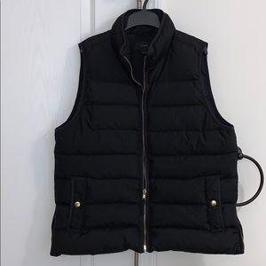 J. Crew puffer vest w/ side zippers/gold hardware